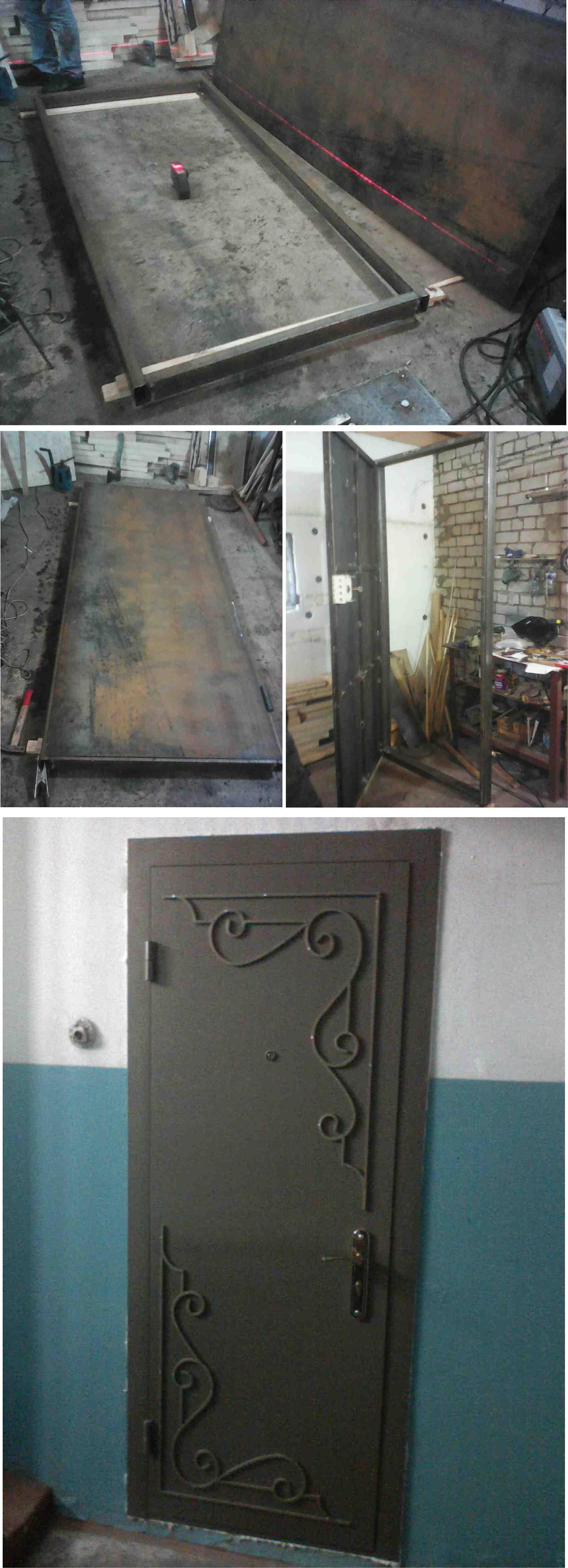 Изготовление сварных металлических дверей  Производство сварных металлических дверей